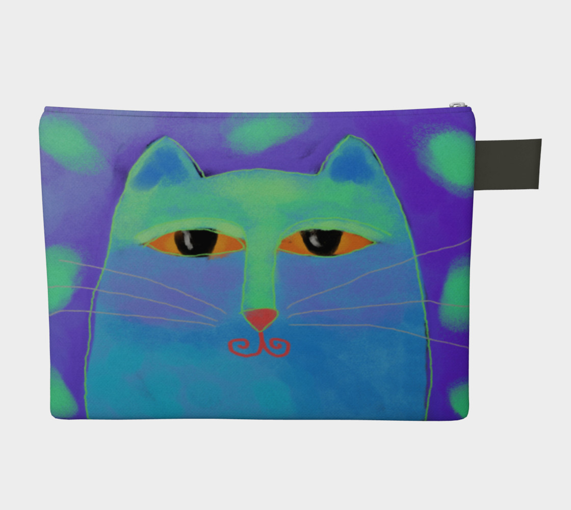 Abstract Blue Cat Clutch Bag preview #2