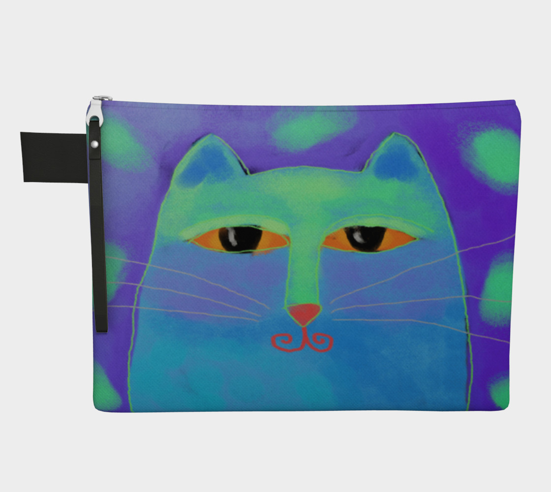 Abstract Blue Cat Clutch Bag preview #1