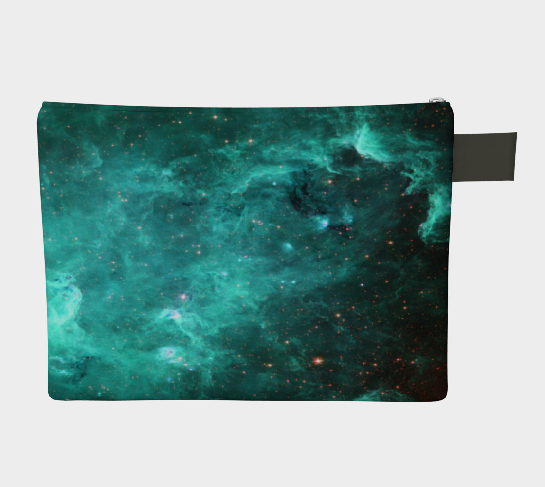 North America Nebula Infrared Turquoise Enhanced Zipper Carry All preview #2
