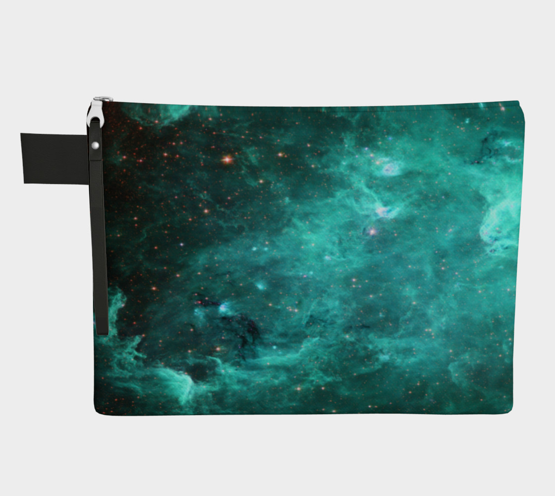 North America Nebula Infrared Turquoise Enhanced Zipper Carry All preview #1