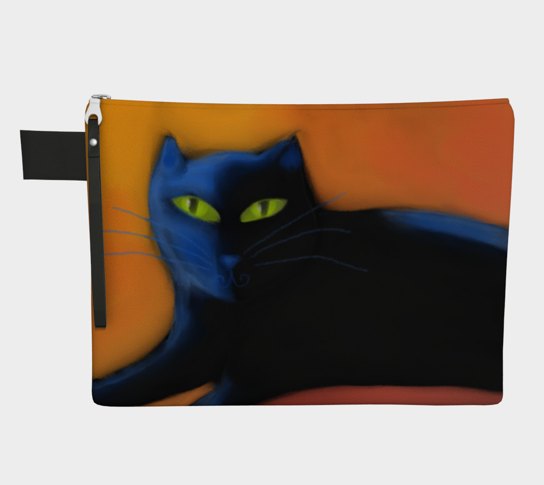 Funky Cat Abstract Art Clutch Bag preview #1