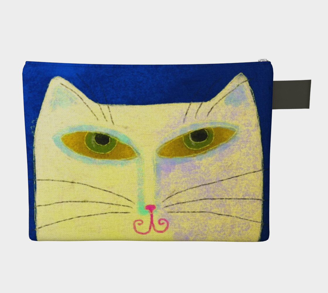 Yellow Cat Abstract Art Clutch Bag preview #2