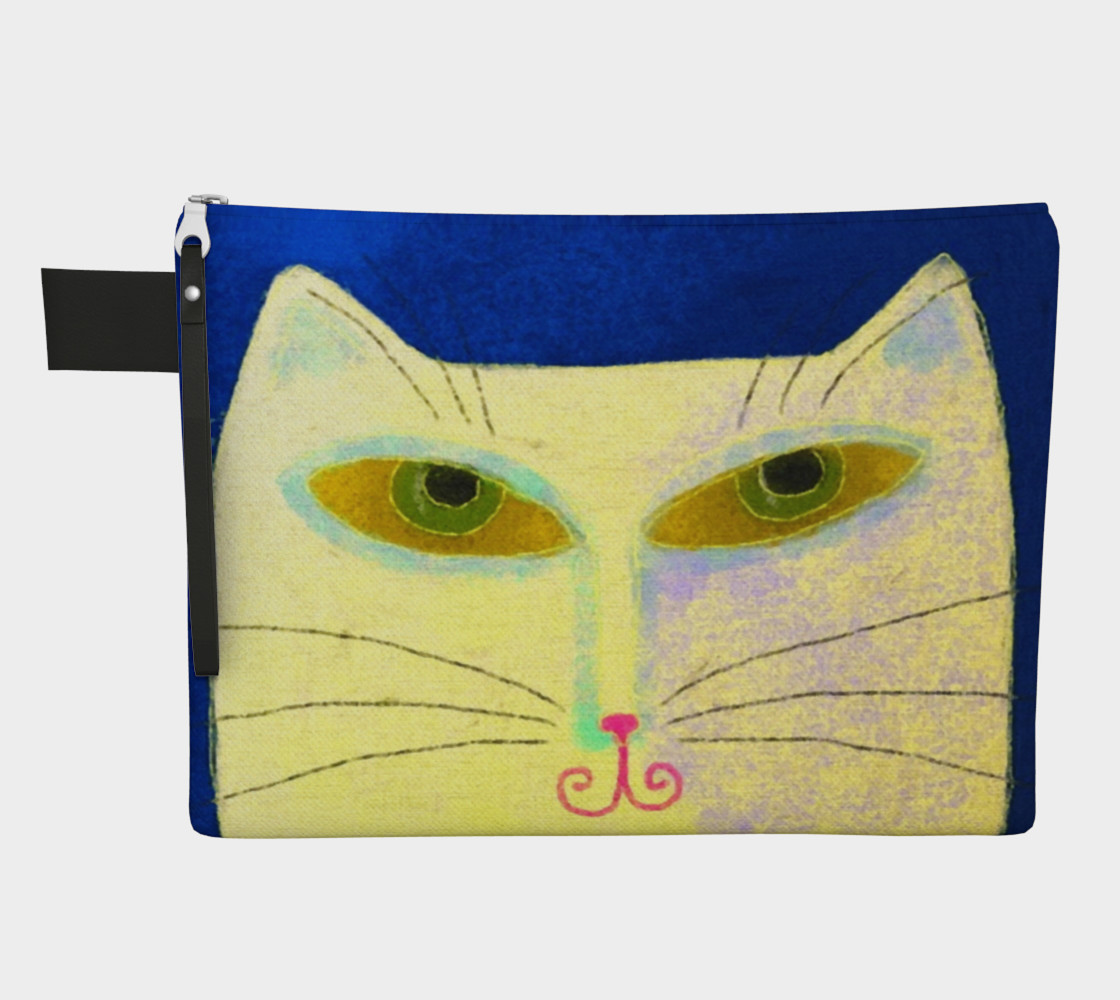 Yellow Cat Abstract Art Clutch Bag preview #1