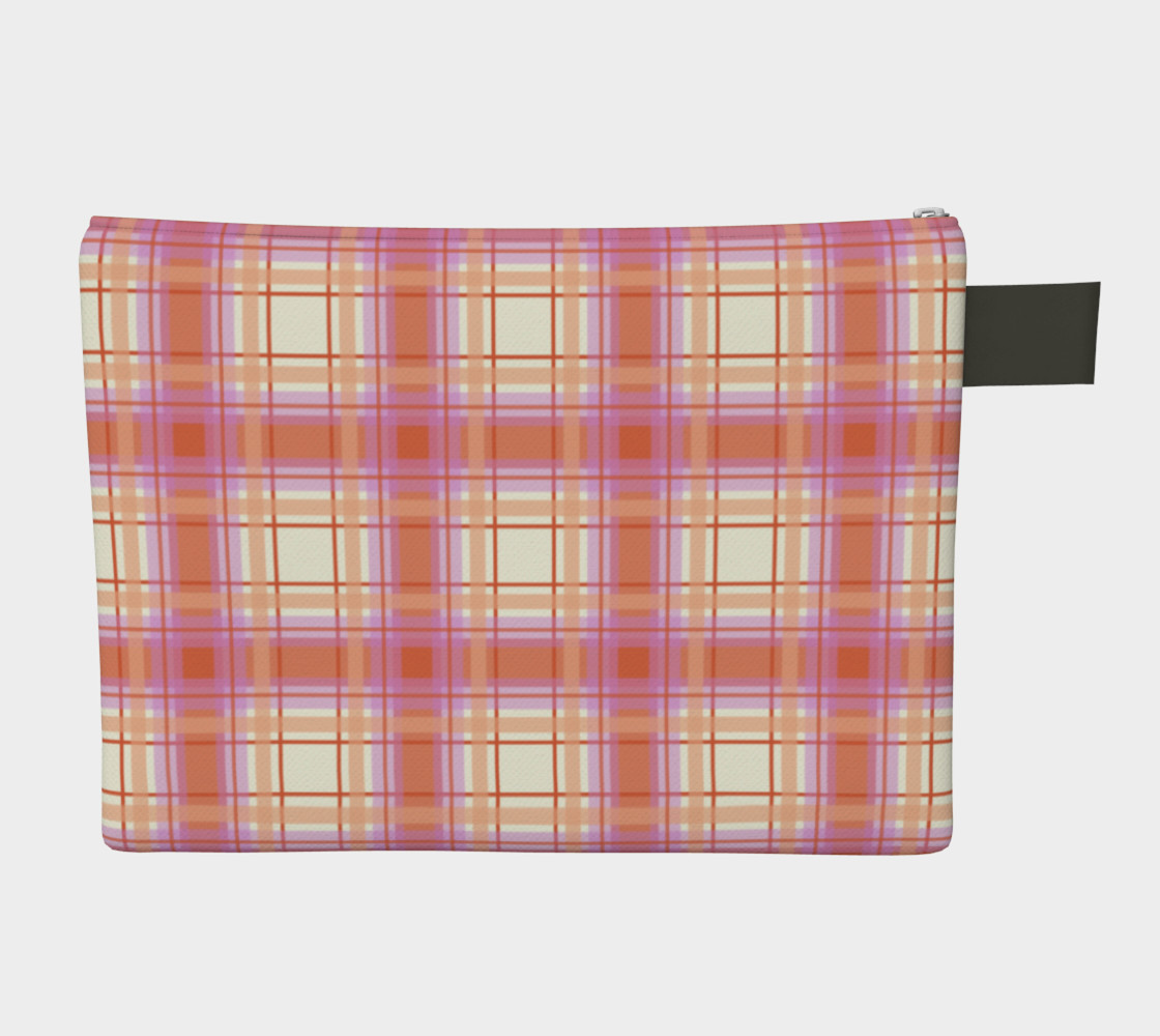 Plaid in Peach, Yellow and Pink preview #2