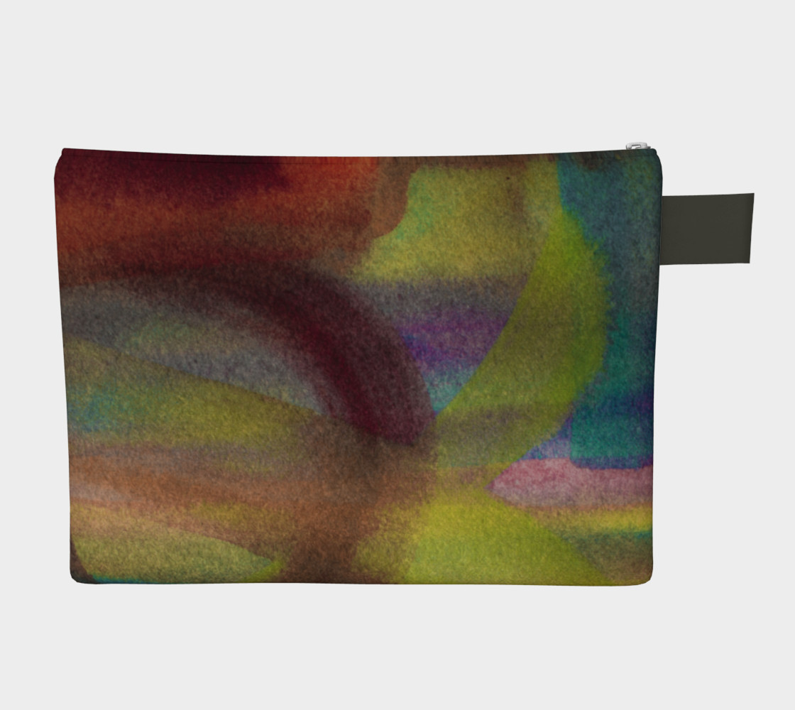 Watercolor Zipper Carry All preview #2
