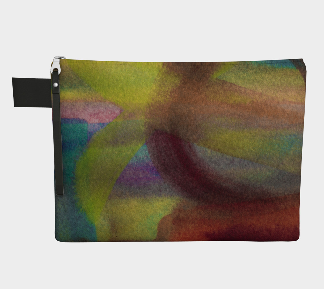 Watercolor Zipper Carry All preview #1