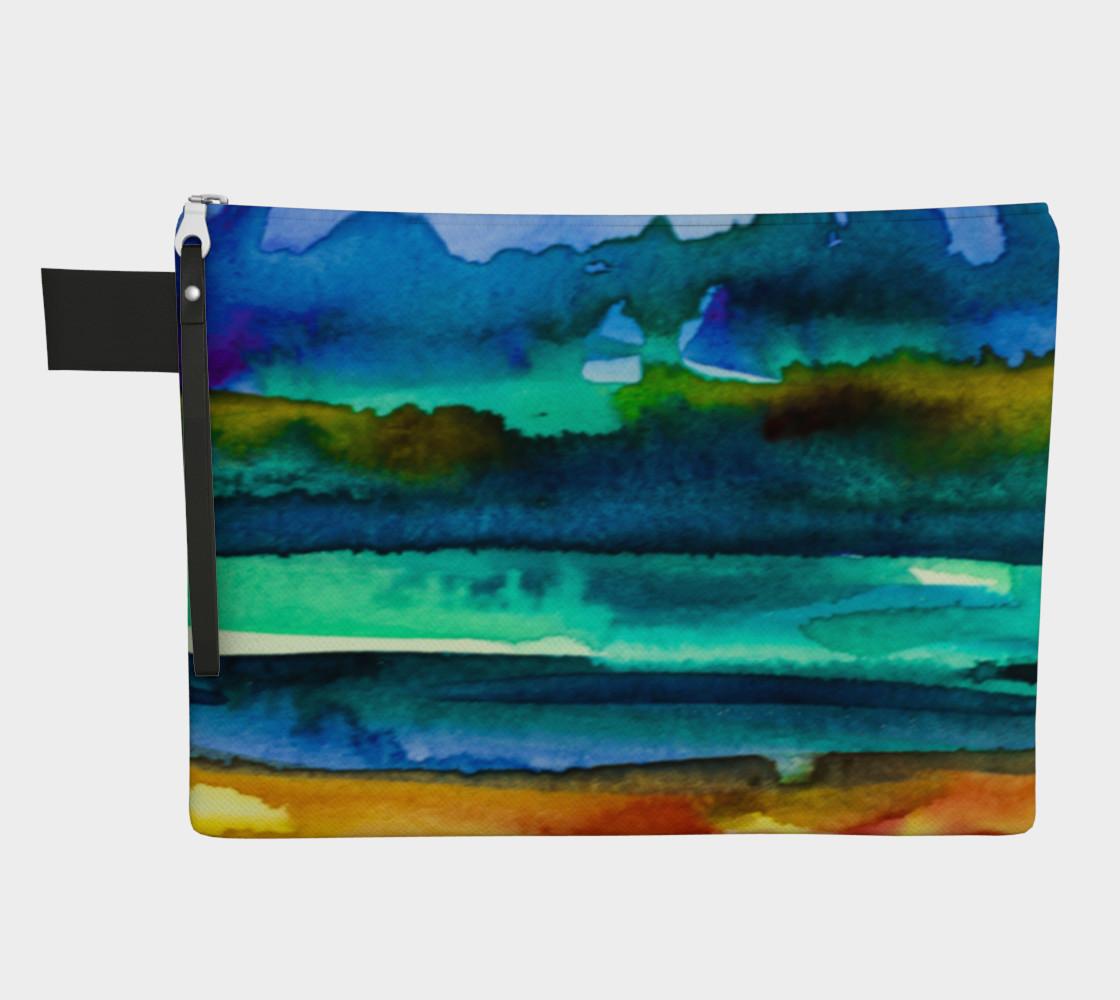 Watercolor Landscape Zipper Carry All preview #1