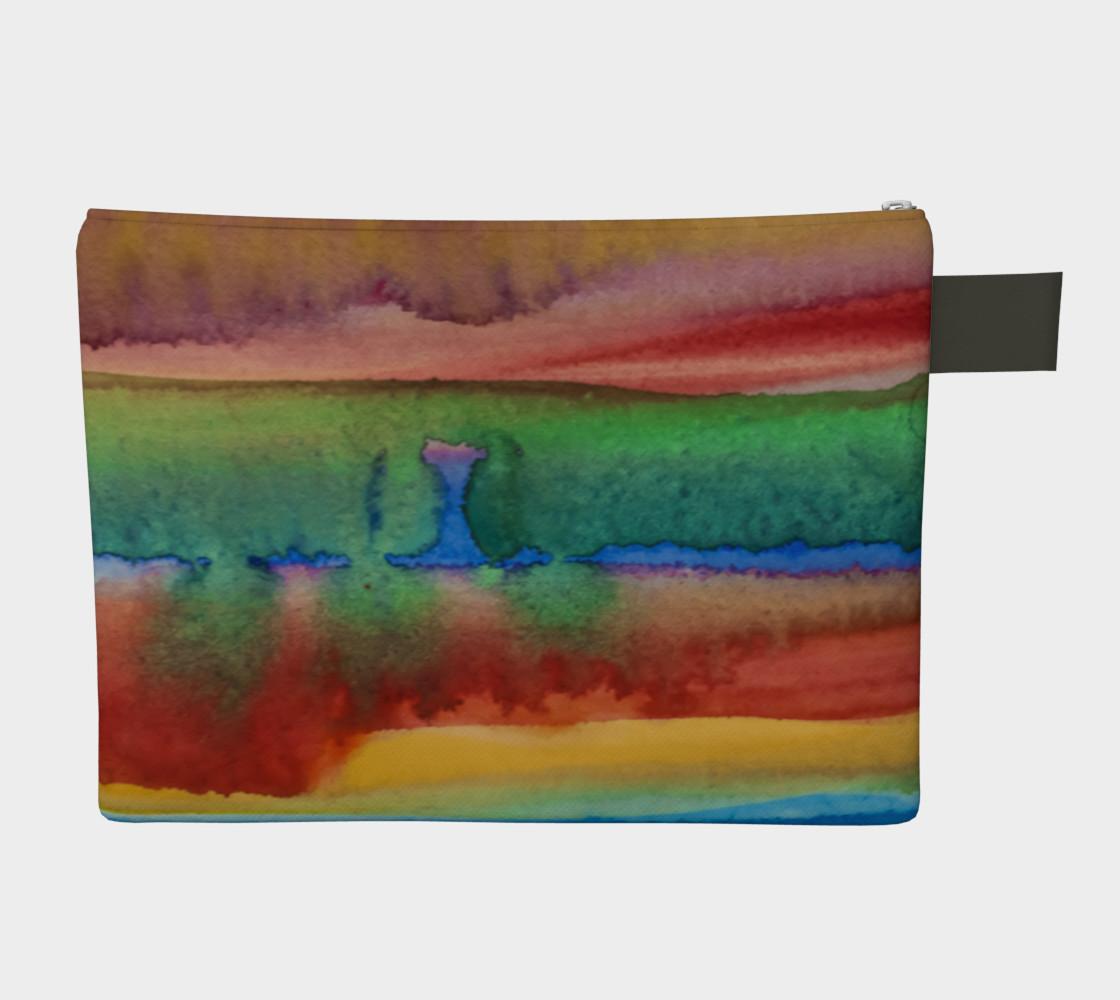 Desert Watercolor Zipper Carry All preview #2