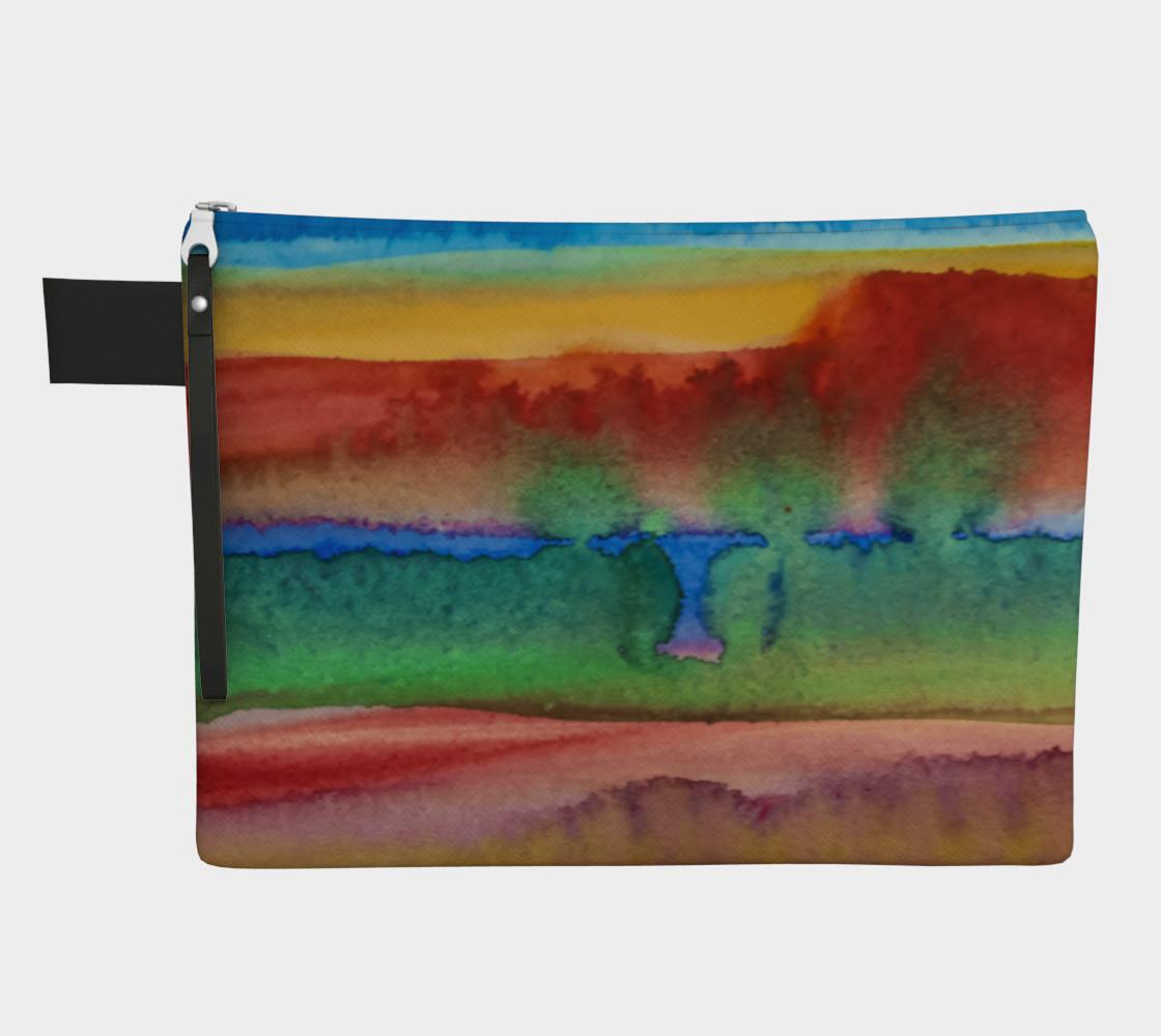 Desert Watercolor Zipper Carry All preview #1