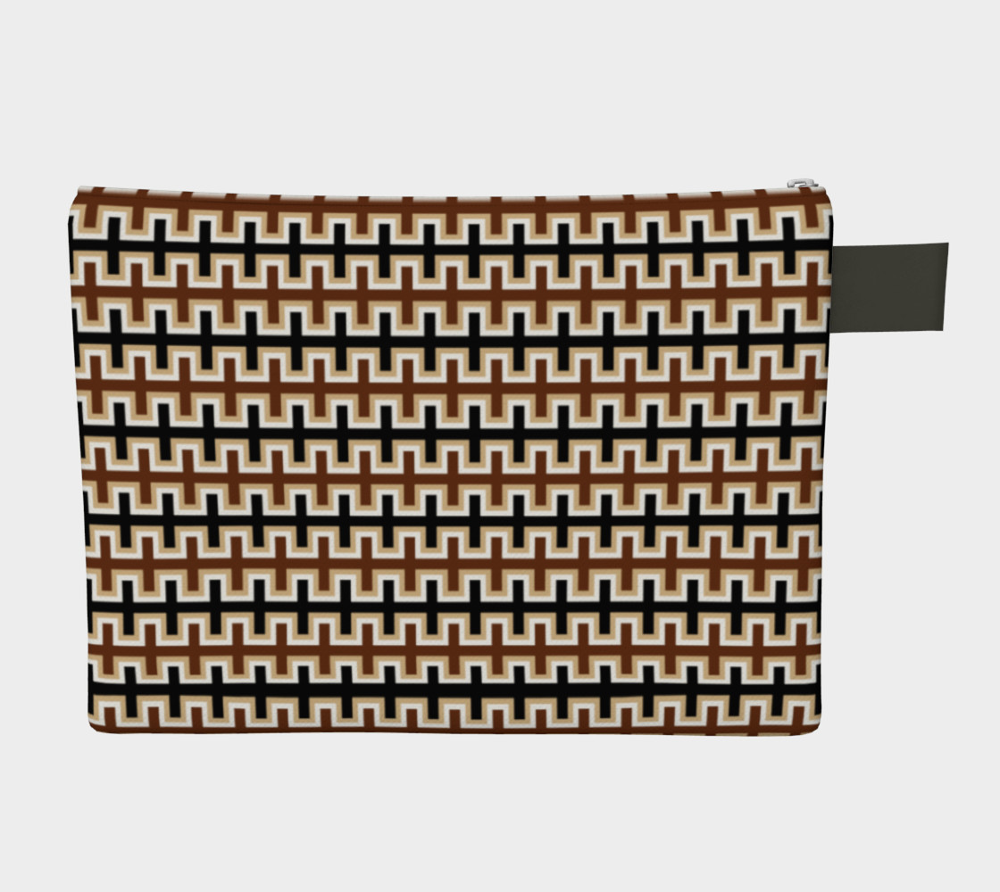 Aperçu de Black, Brown, Camel Brown, and White Southwest Blanket #2
