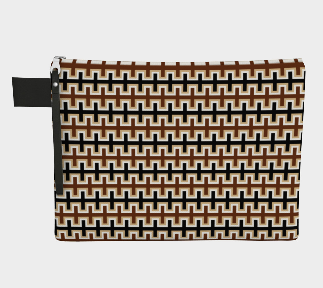 Aperçu de Black, Brown, Camel Brown, and White Southwest Blanket #1