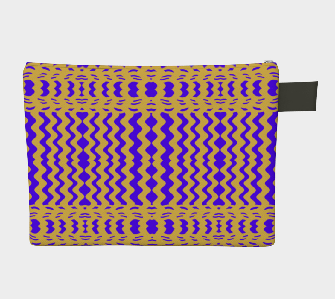 Bright Colorful Purple Yellow Wavy Lines preview #2