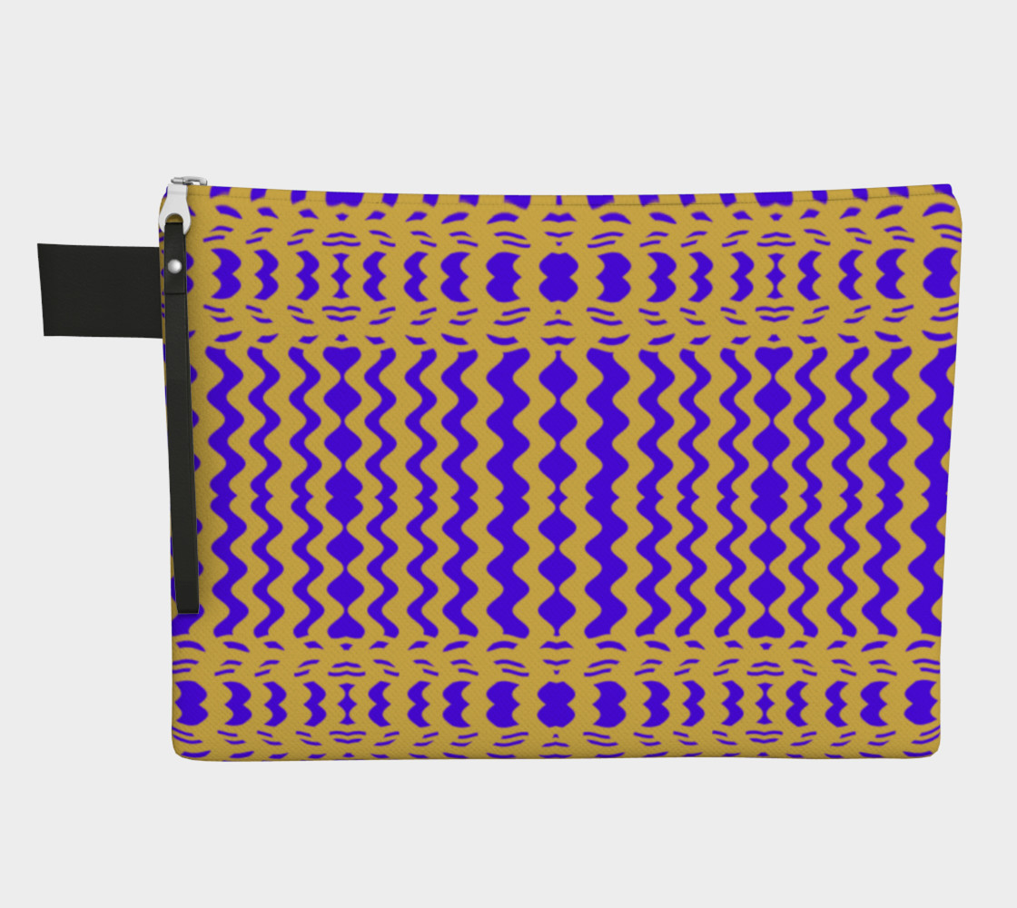Bright Colorful Purple Yellow Wavy Lines preview #1