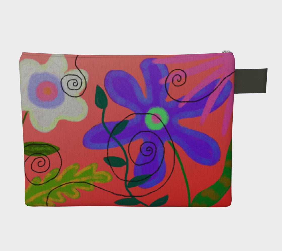 Aperçu de Wild Flowerz Abstract Art Clutch Bag #2