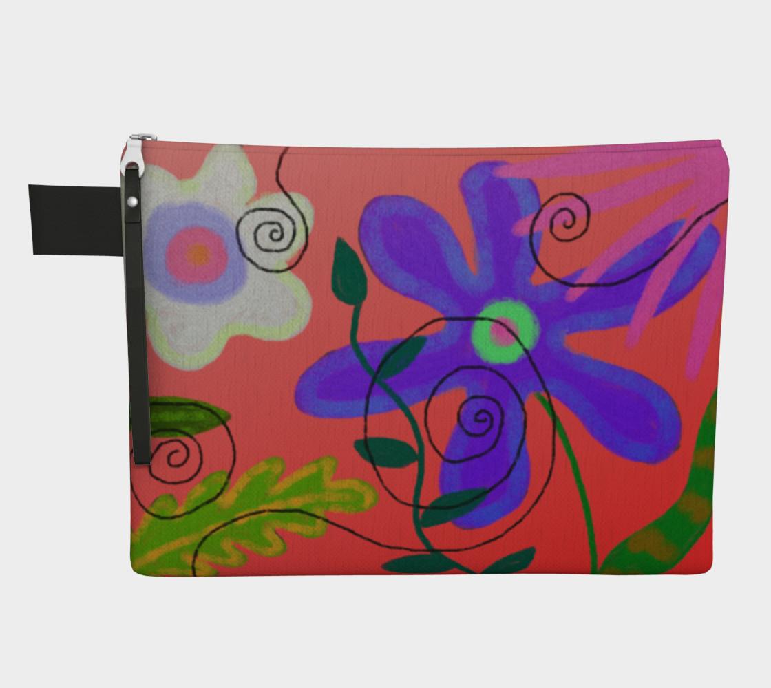 Aperçu de Wild Flowerz Abstract Art Clutch Bag #1