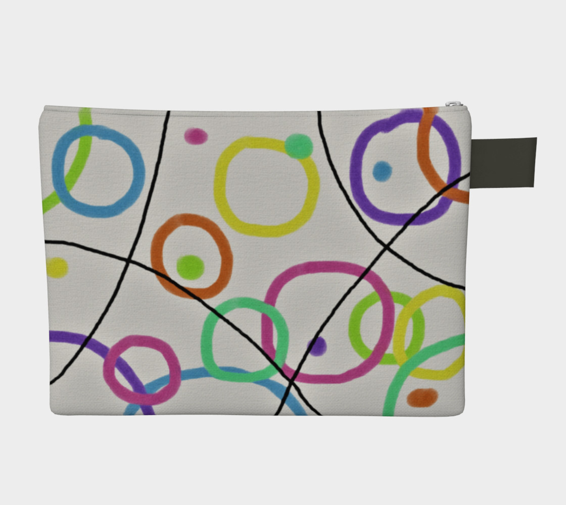 Funky Abstract Art Clutch Bag Miniature #3