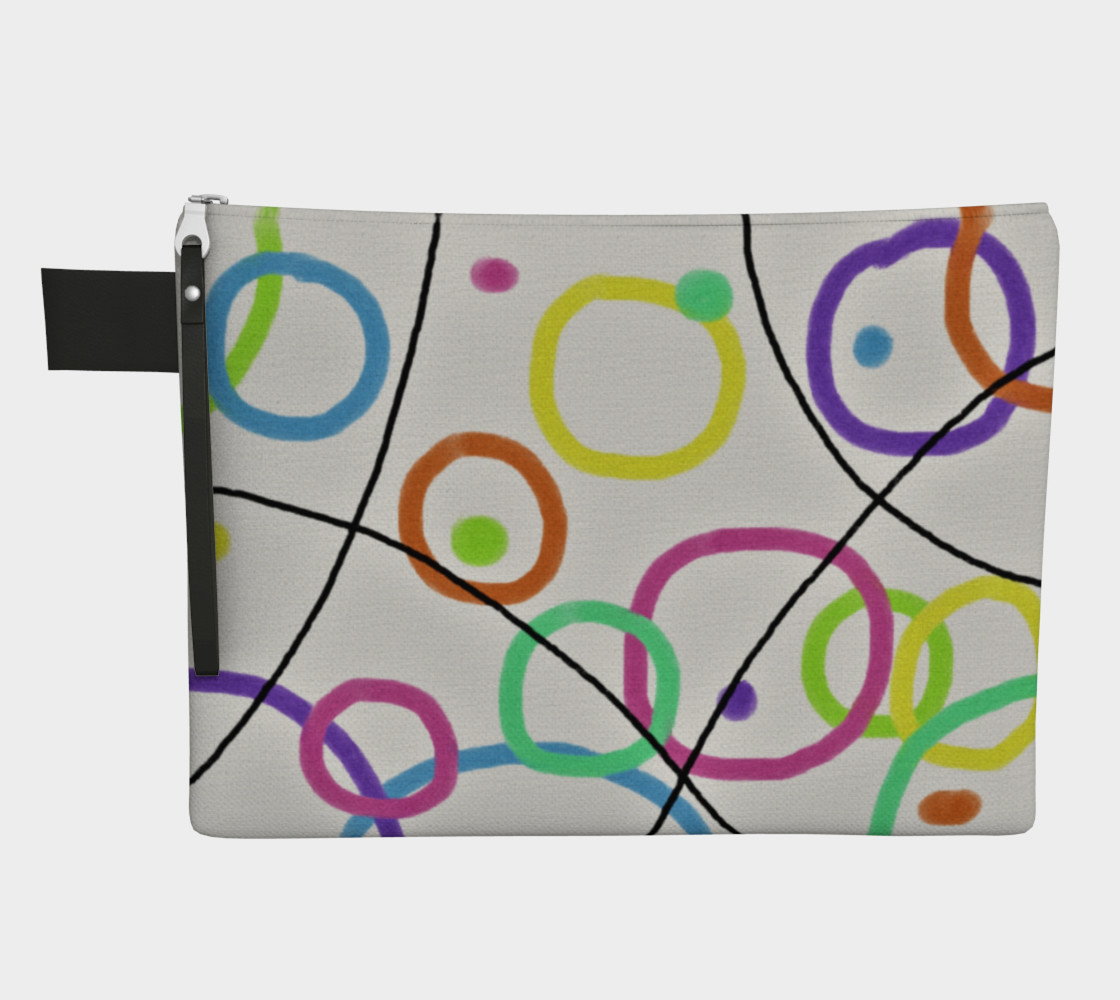 Aperçu 3D de Funky Abstract Art Clutch Bag