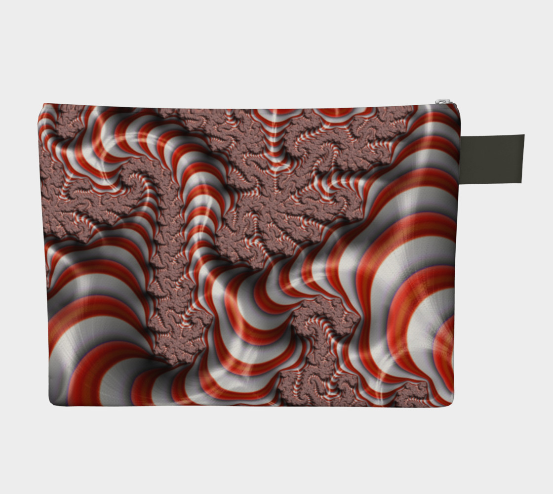Candy Cane Fractal Zipper Carry All preview #2