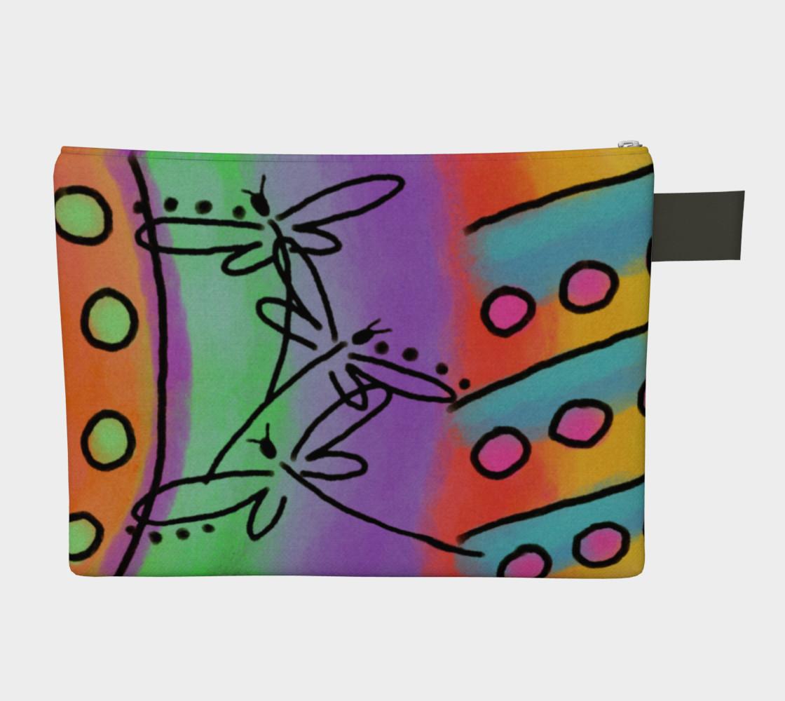 Aperçu de Dragonflies Abstract Art Clutch Bag #2