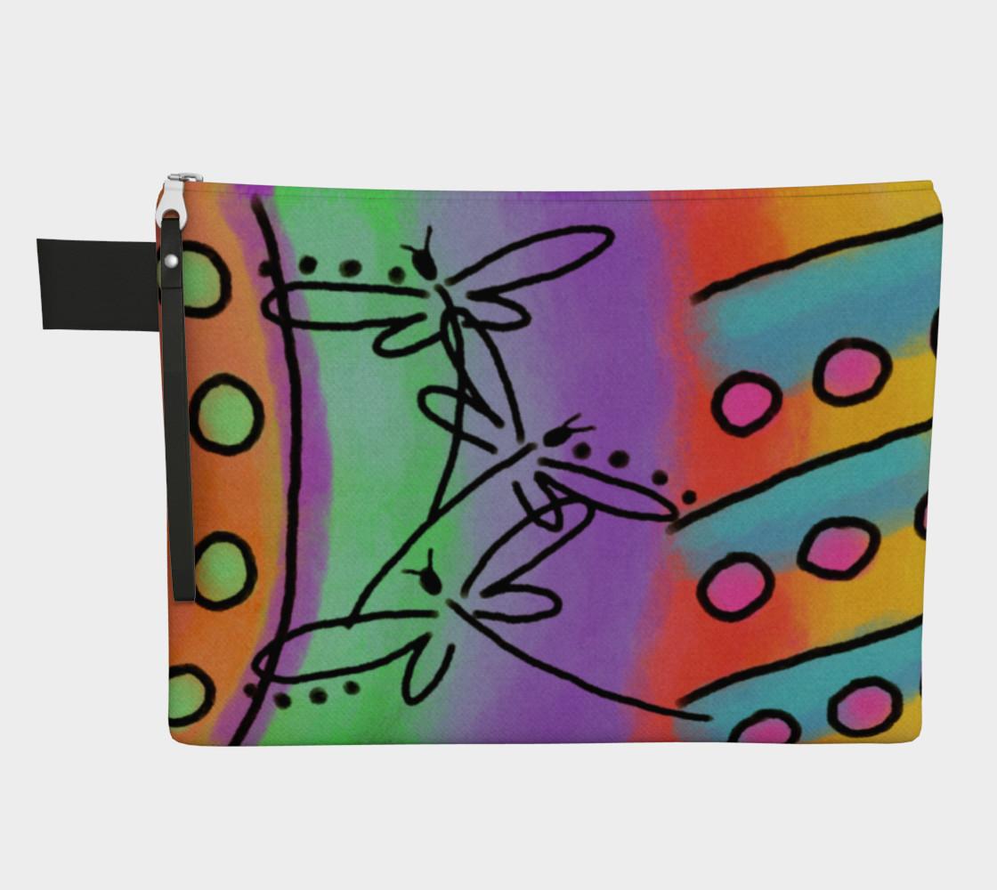 Aperçu de Dragonflies Abstract Art Clutch Bag #1