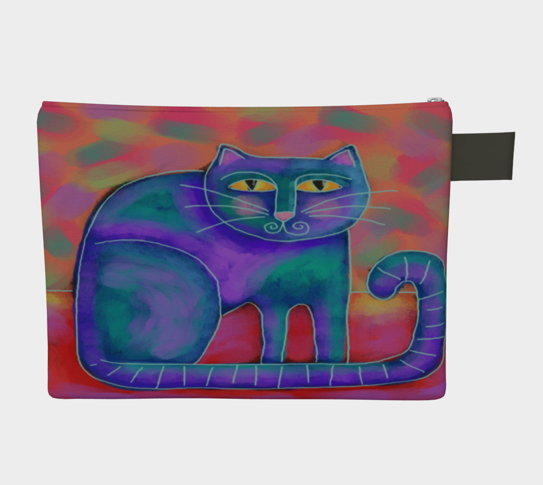 Funky Abstract Cat Art Clutch Bag preview #2
