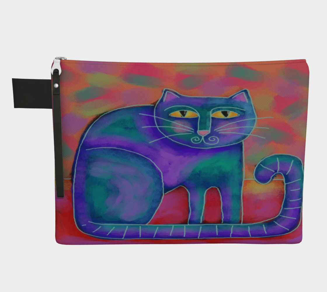 Funky Abstract Cat Art Clutch Bag preview #1