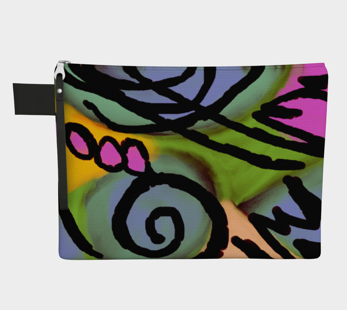 Colorful Abstract Art Clutch Bag preview #1