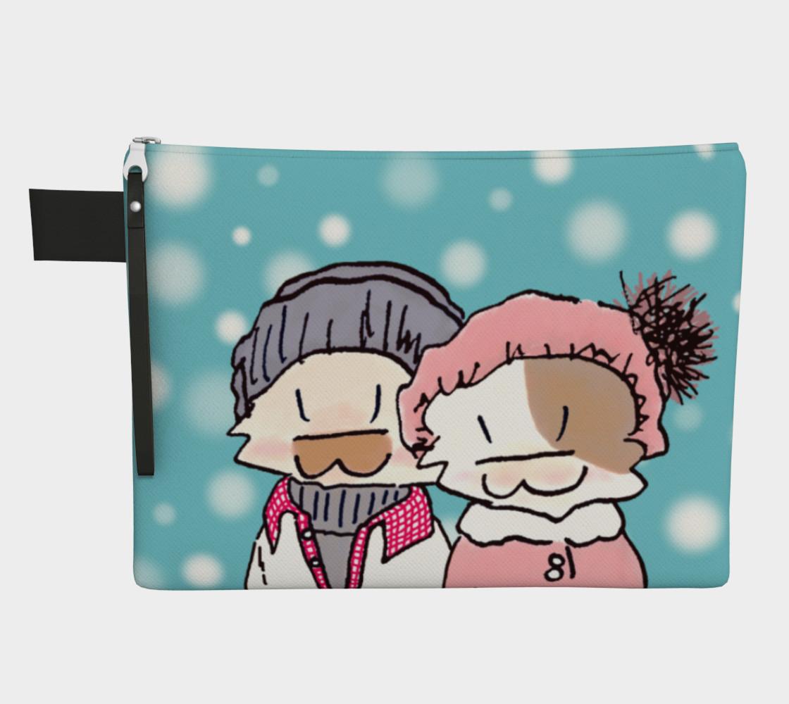 Aperçu de Happy Kitty Couple - Snowing #1