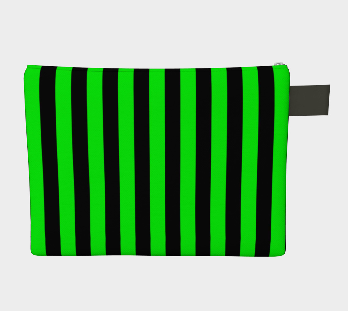 Black and Lime Green Stripes Miniature #3