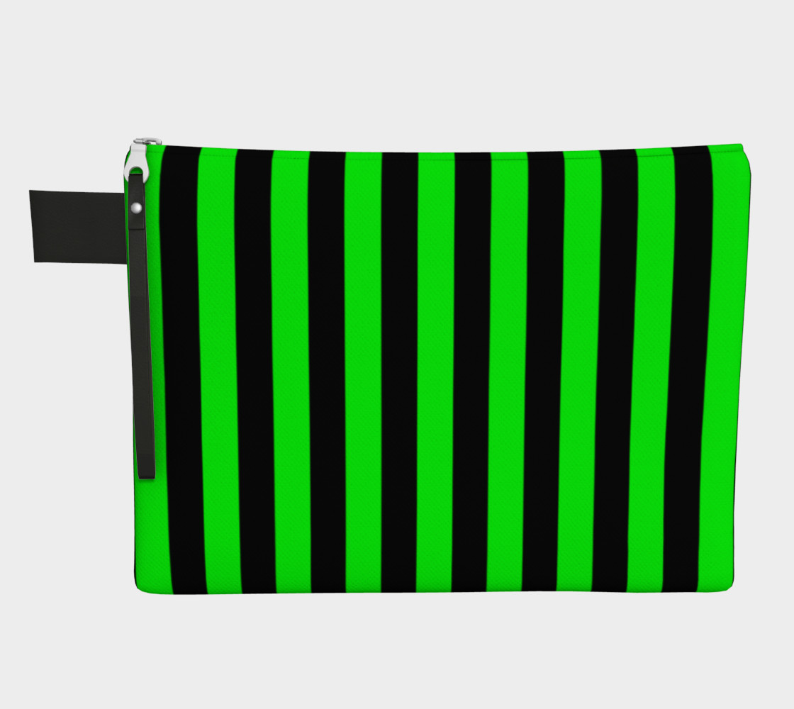 Black and Lime Green Stripes Miniature #2