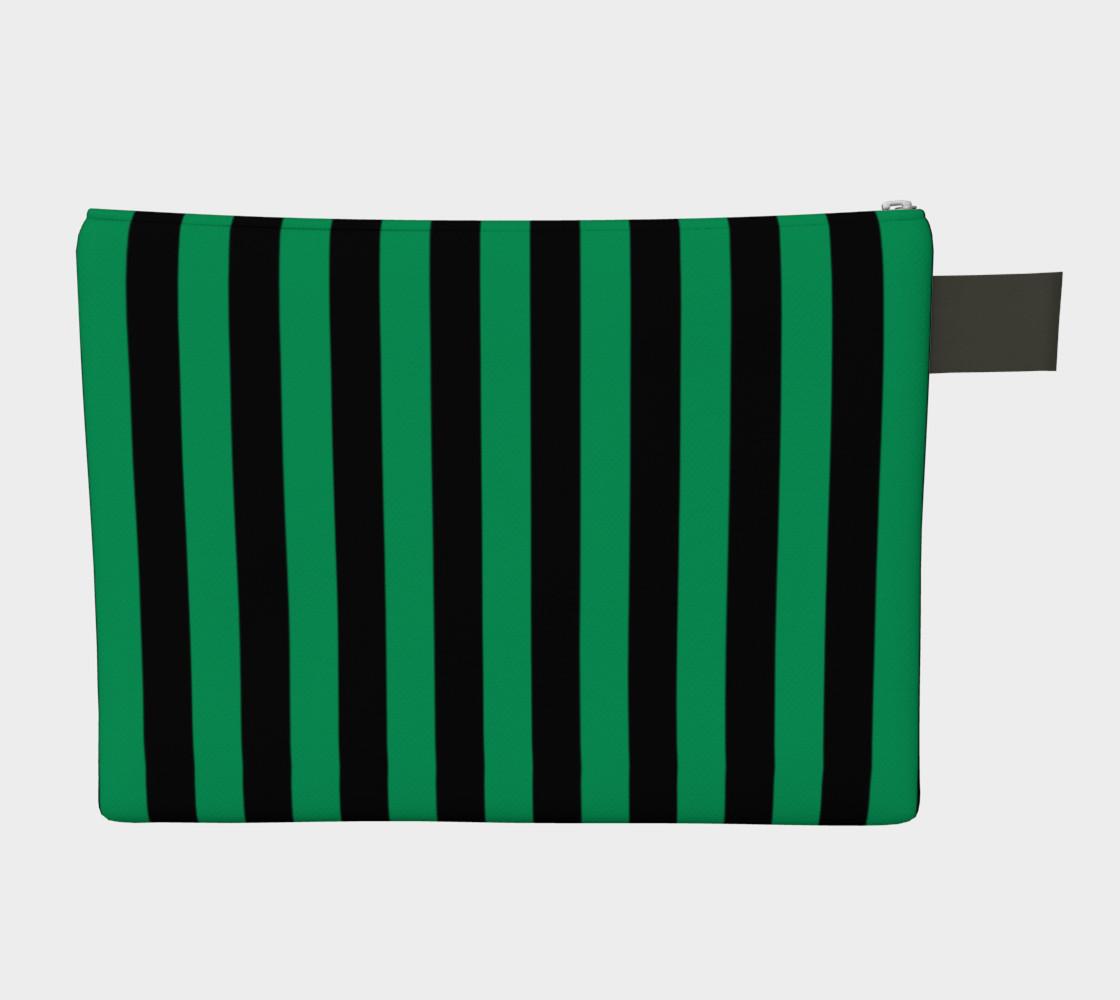 Aperçu de Black and Shamrock Green Stripes #2