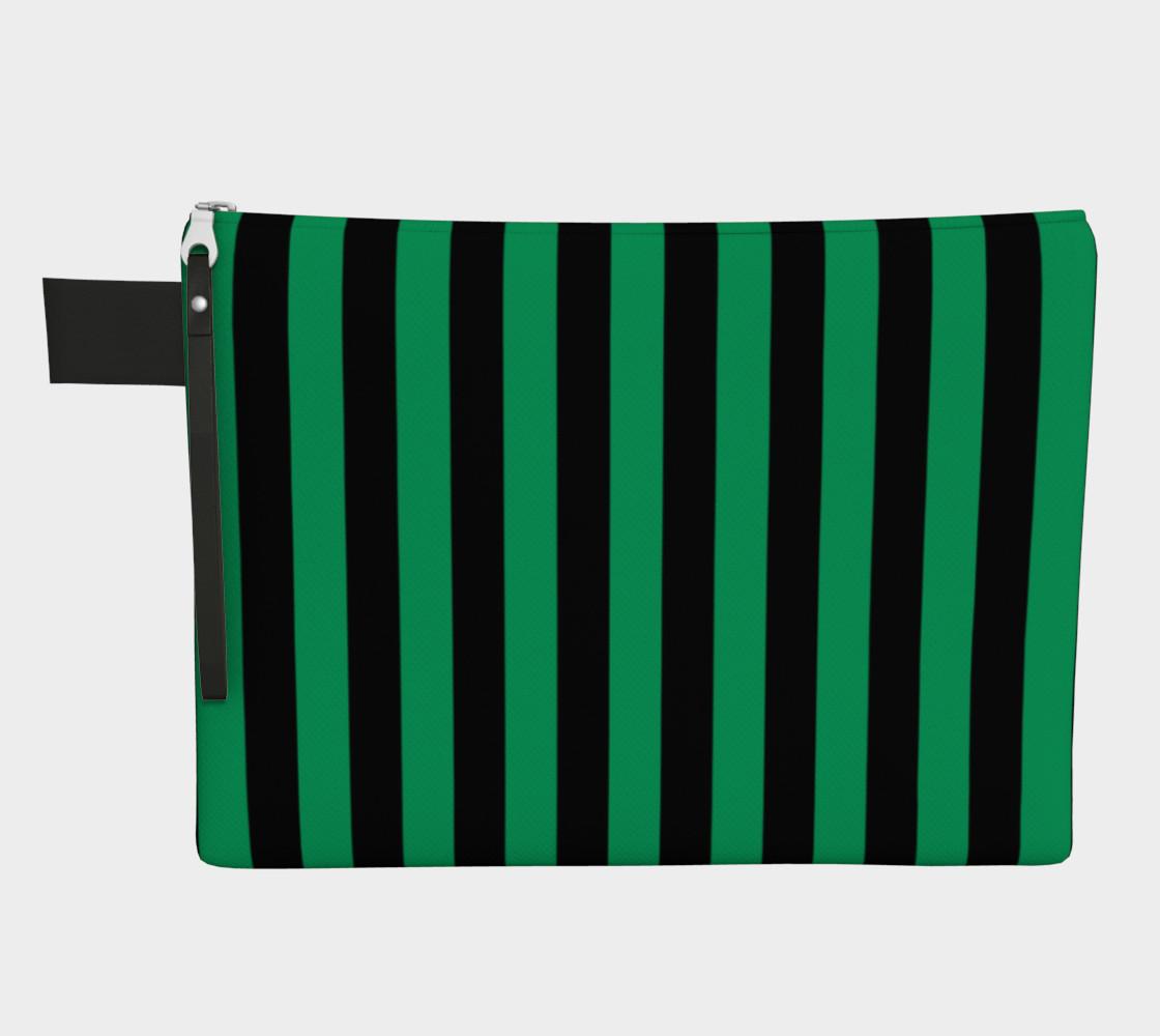 Aperçu de Black and Shamrock Green Stripes #1