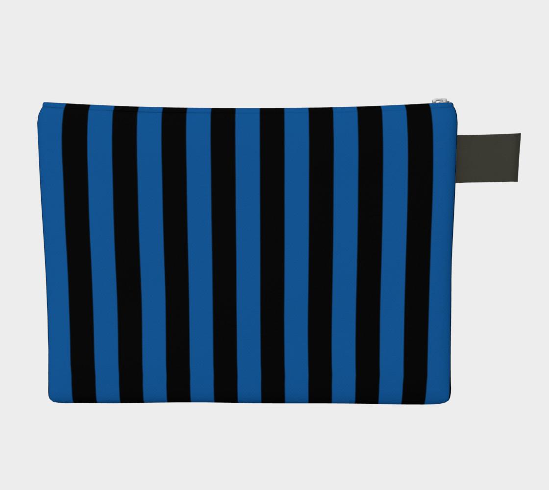 Aperçu de Black and Turquoise Blue Stripes #2