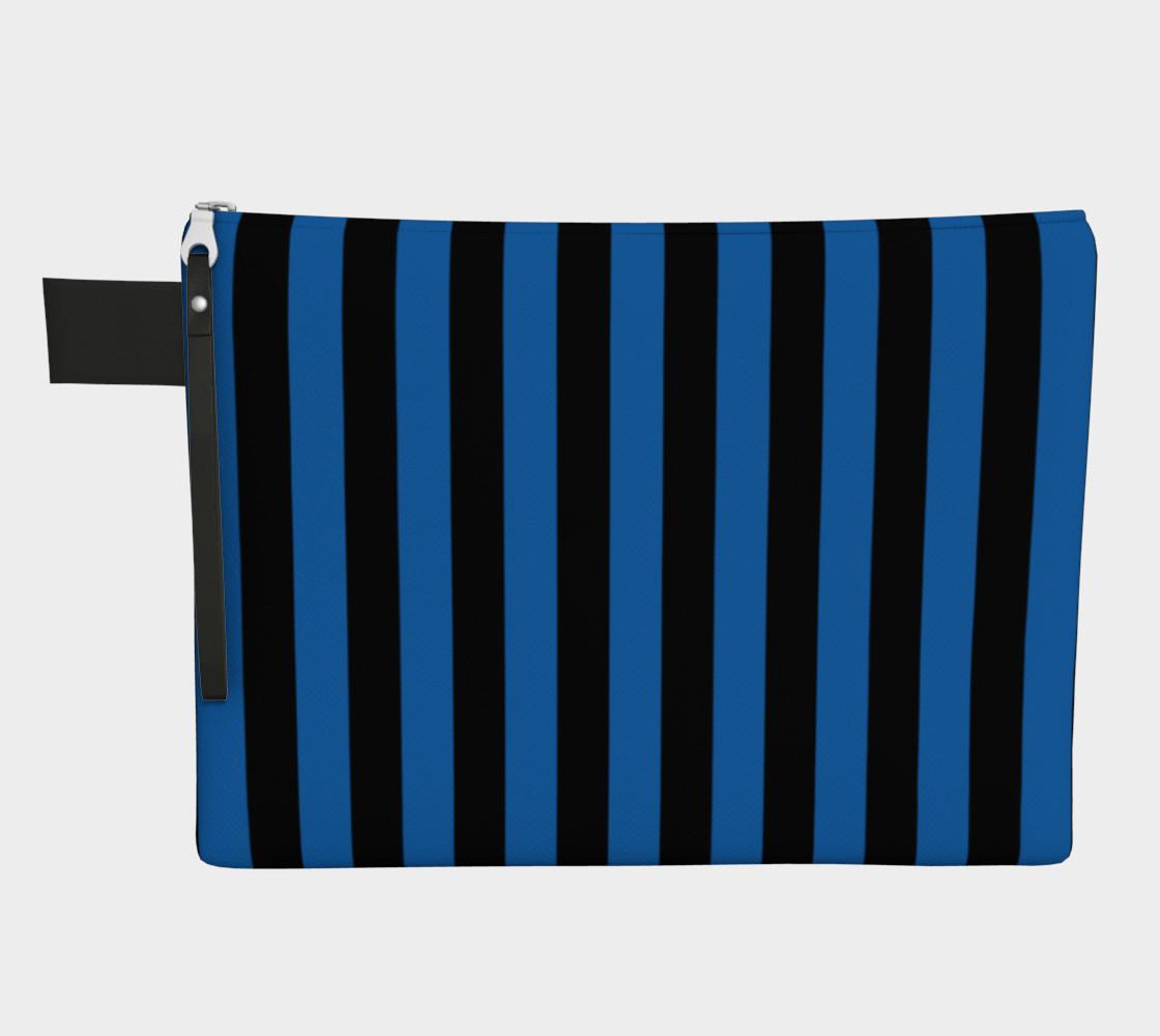 Aperçu de Black and Turquoise Blue Stripes #1