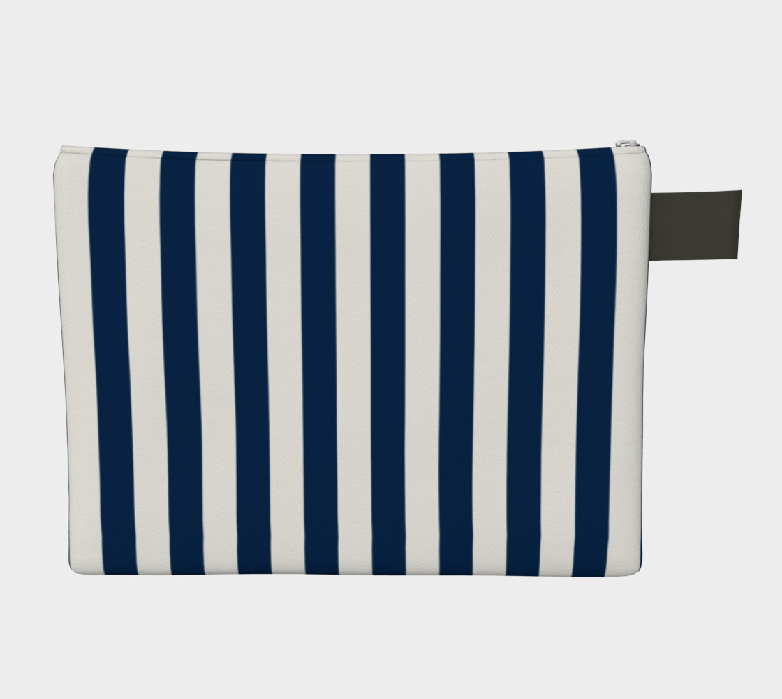Navy Blue and White Stripes Miniature #3