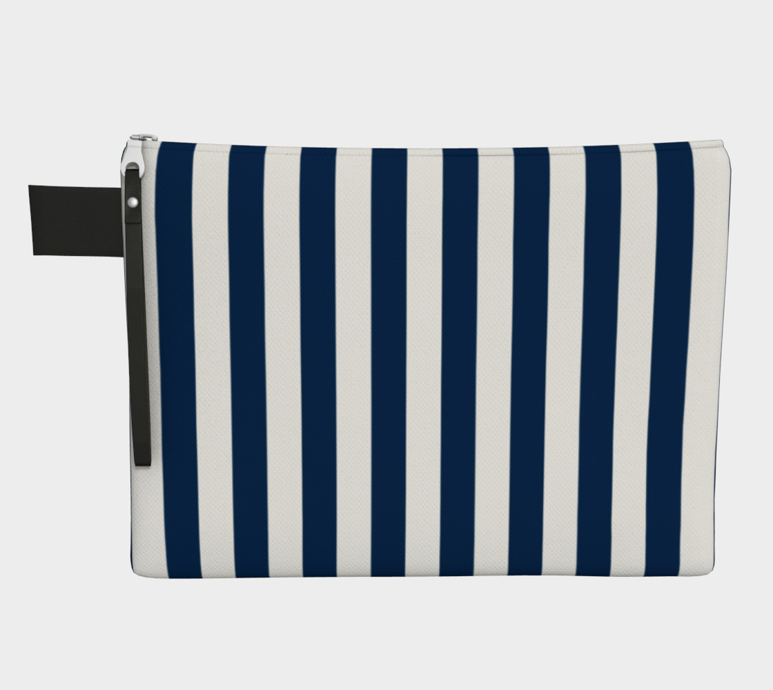 Navy Blue and White Stripes Miniature #2