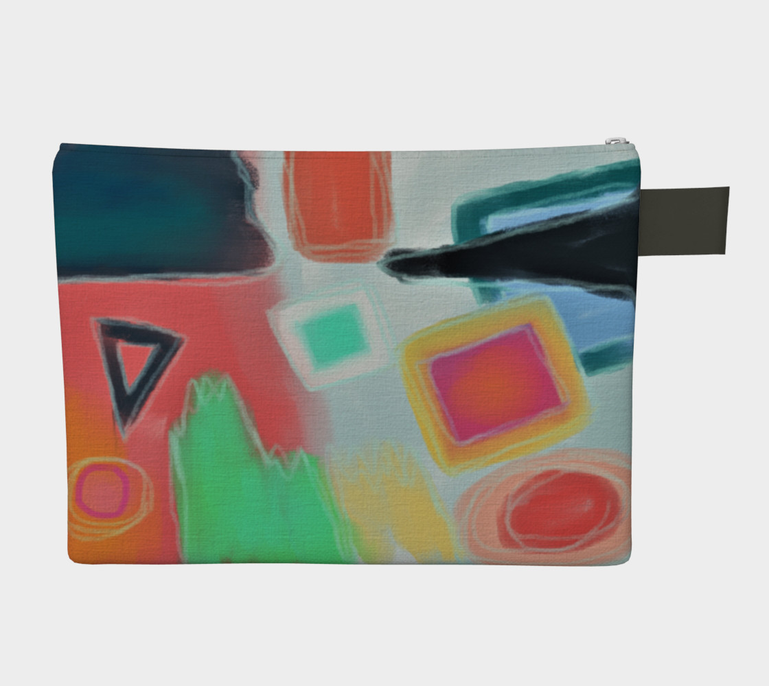 Original Abstract Art Clutch Bag preview #2