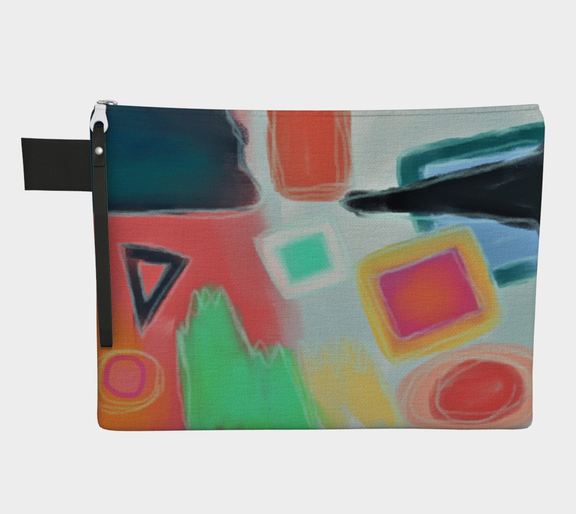 Original Abstract Art Clutch Bag preview #1