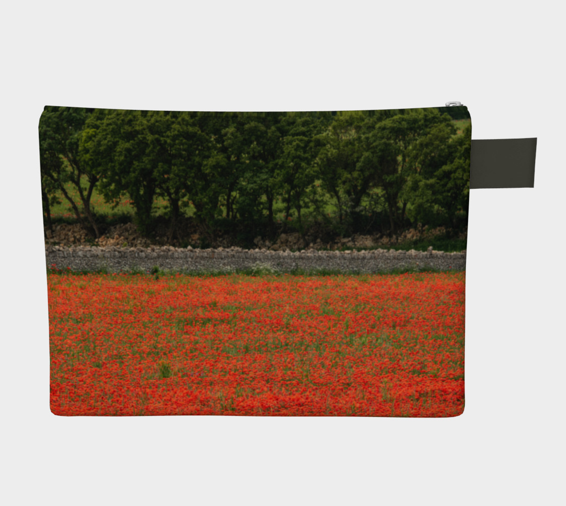 Utterly Italy Red Poppies in Puglia Zipper Carry-All preview #2