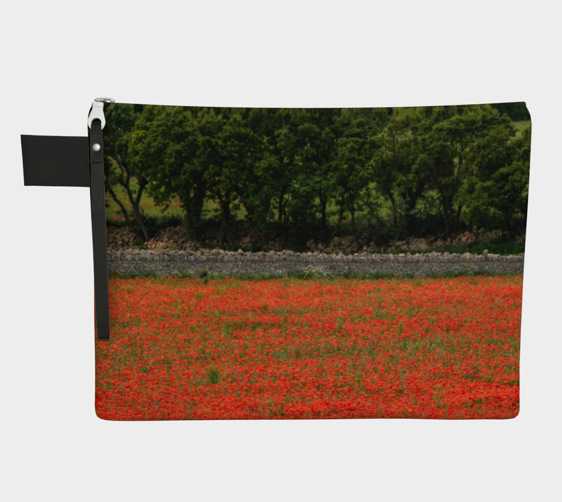 Utterly Italy Red Poppies in Puglia Zipper Carry-All preview #1