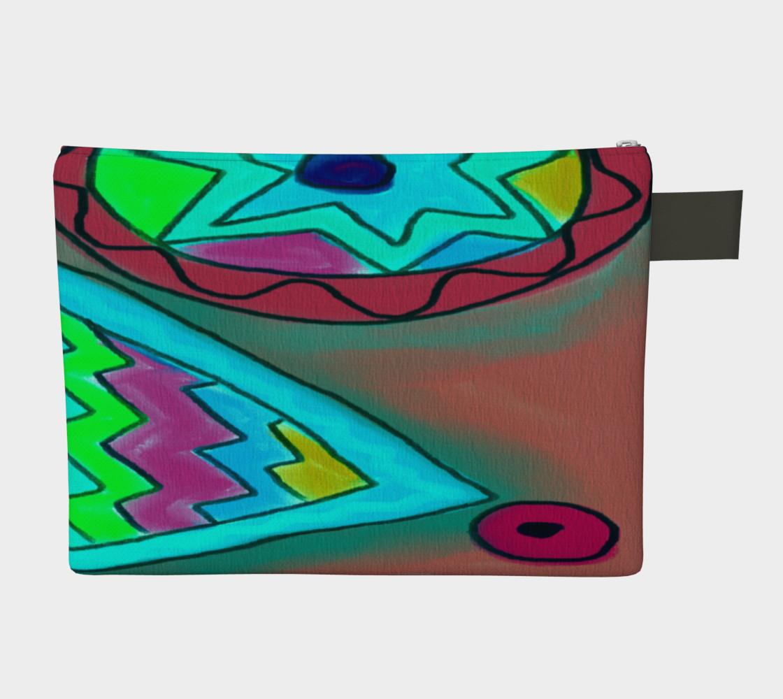 Aperçu de Colorful Abstract Art Clutch Bag #2