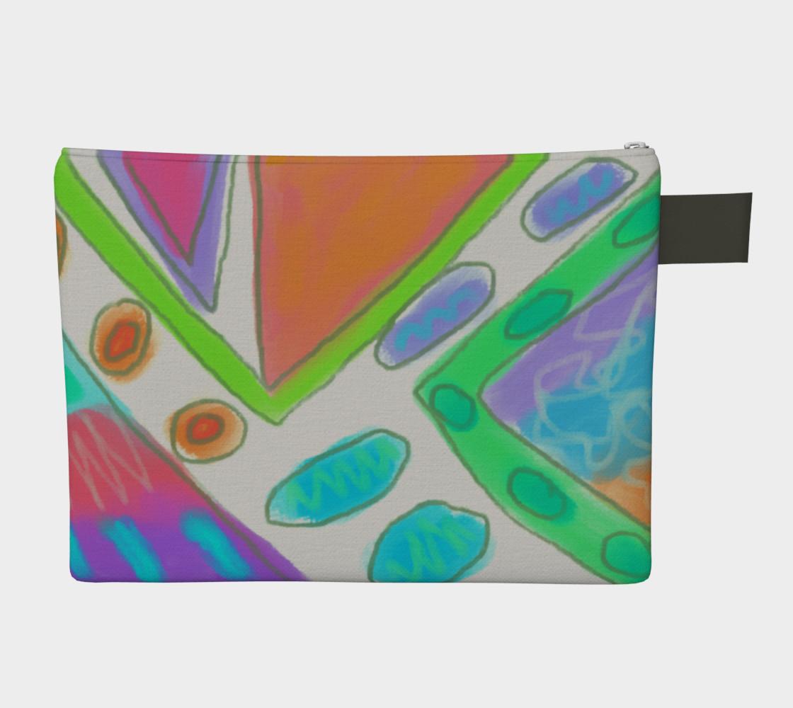 Aperçu de Original Abstract Art Clutch Bag #2