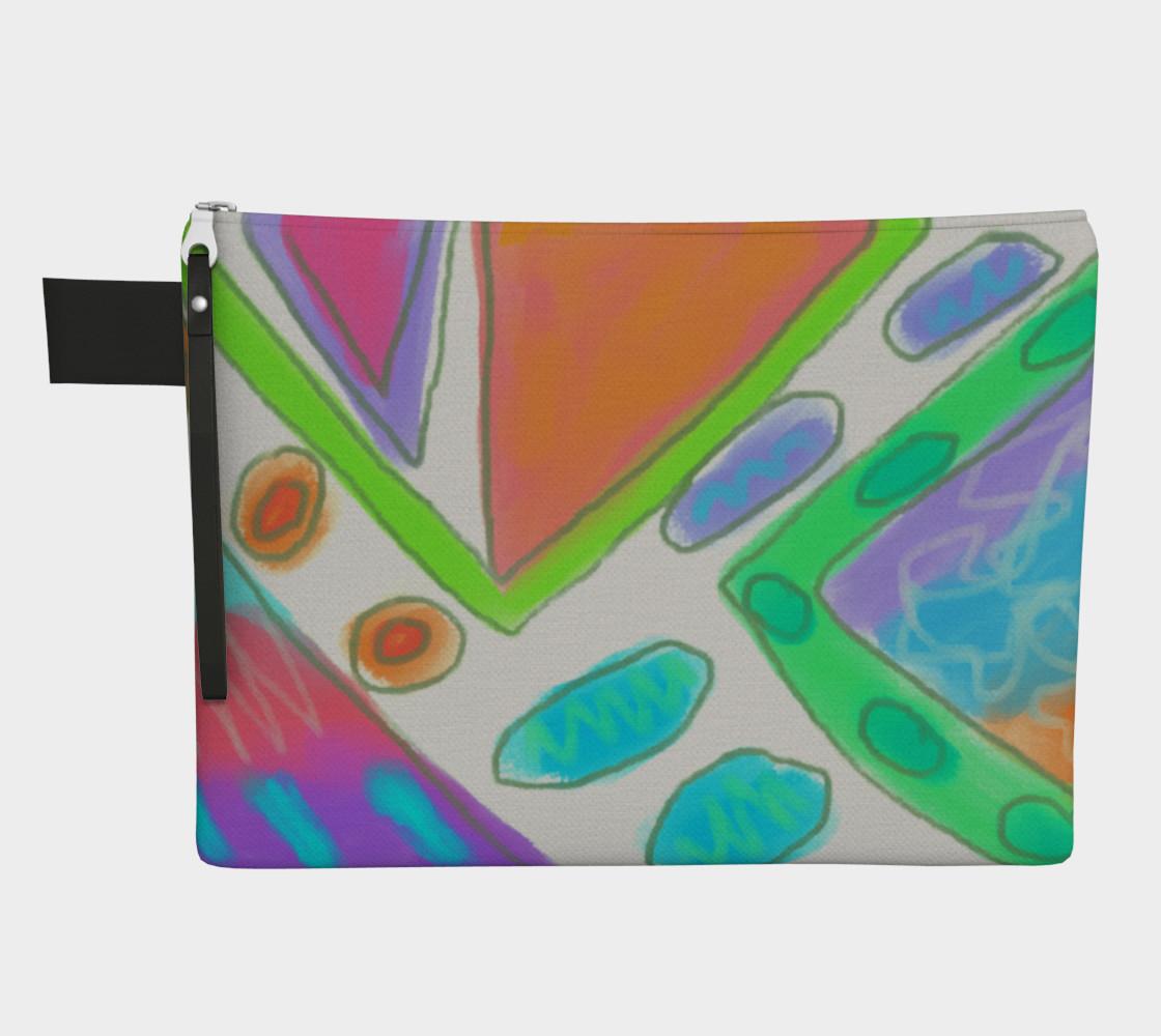 Aperçu de Original Abstract Art Clutch Bag #1