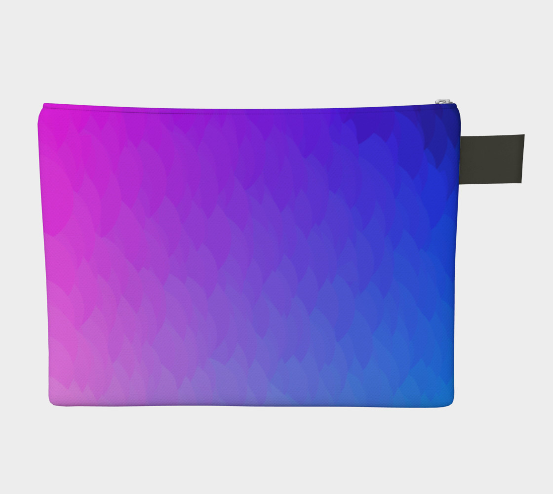 Purple Pink Blue ombre flame zipper carry-all bag preview #2