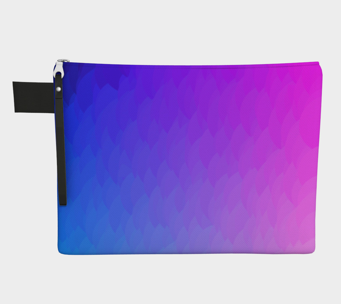 Purple Pink Blue ombre flame zipper carry-all bag preview #1