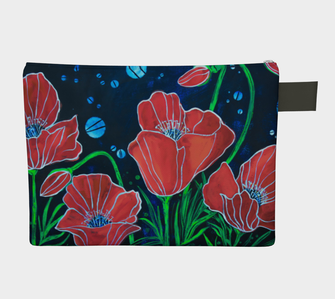 Big Red Poppies Zipper Carry All preview #2