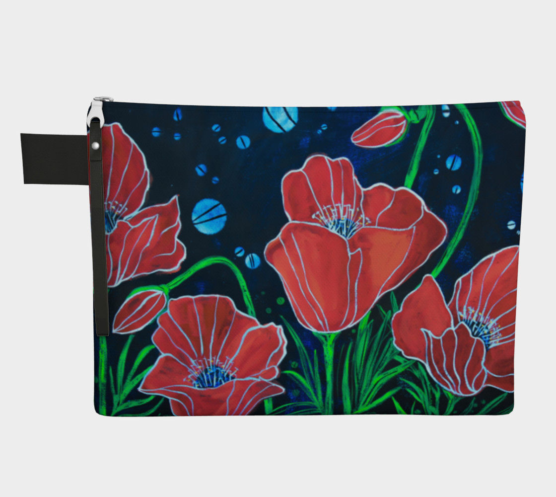 Big Red Poppies Zipper Carry All preview #1