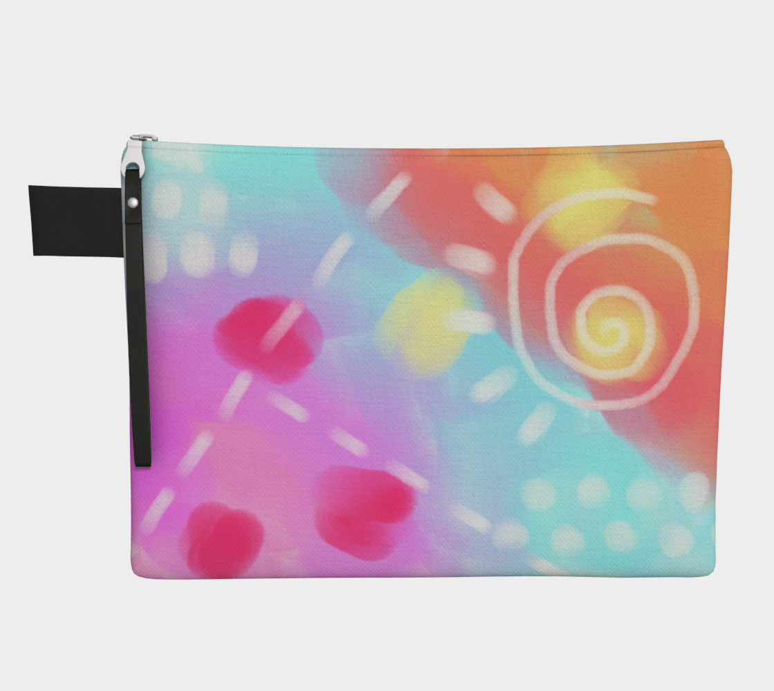 Colorful Abstract Art Clutch Bag Miniature #2