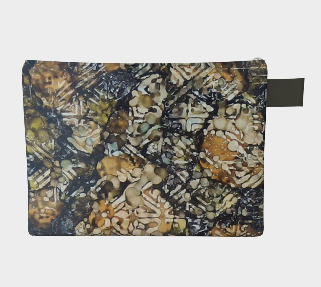 Aperçu de Bark Batik Ink #22 Zipper Carry All #2