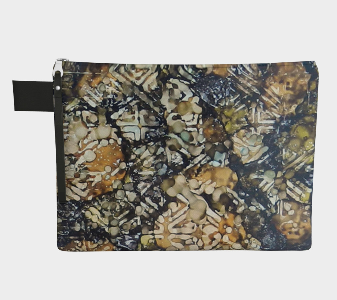Aperçu de Bark Batik Ink #22 Zipper Carry All #1